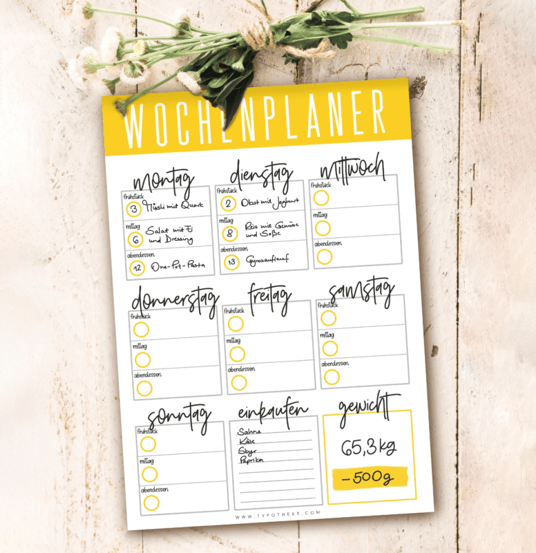 Meal Planner Block bunt